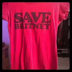 anchor blue Tops - Save Britney Spears T-shirt